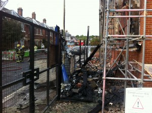 Hatherley Road Fire Aftermath